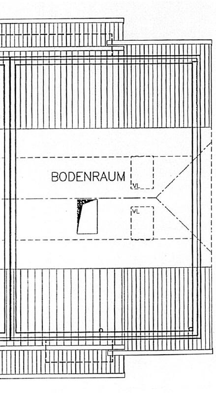 Grundriss Spitzboden